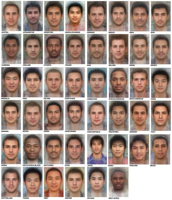 Average faces of men and women around the world  | Leading Personality